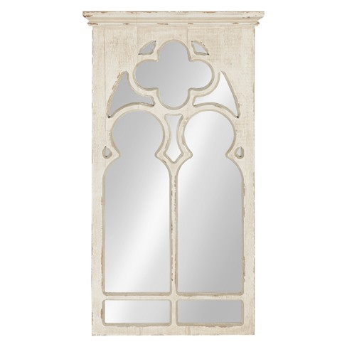 Kate Laurel 16 3 X31 5 Mirabela Arch Framed Decorative Wall Mirror White