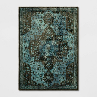 5'X7' Elaenia Vintage Persian Woven Rug Navy - Opalhouse™