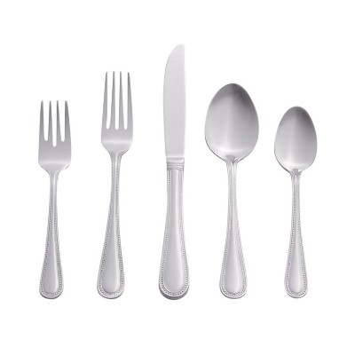 RiverRidge 46-Piece Beaded Silverware Set
