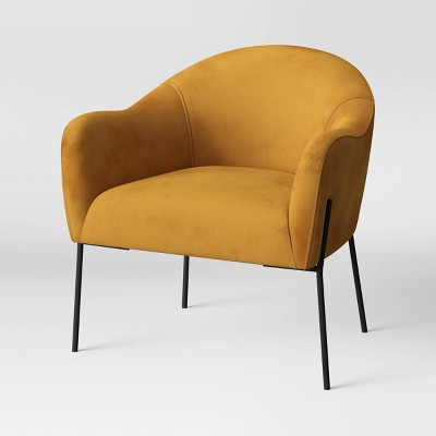 Gladden Rounded Back Anywhere Chair Mustard - Project 62™