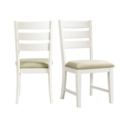 Set of 2 Barrett Ladder Back Side Chair Set Natural/White - Picket House Furnishings