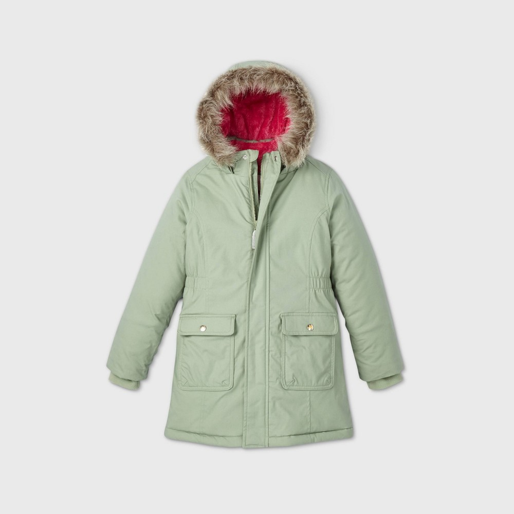 Compare Girl' Zip-Front Parka Jacket - Cat & Jack™