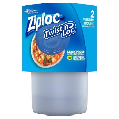 Ziploc Twist 'n Loc Medium Round Containers - 2ct