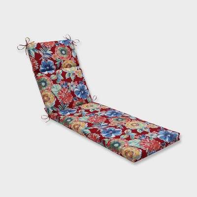 Colsen Berry Chaise Lounge Outdoor Cushion Red - Pillow Perfect