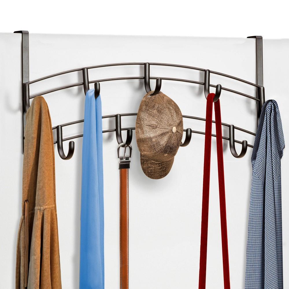 Lynk Over Door Accessory Holder - Scarf Belt Hat Jewelry Hanger - 9 Hook Organizer Rack - Bronze Discounts