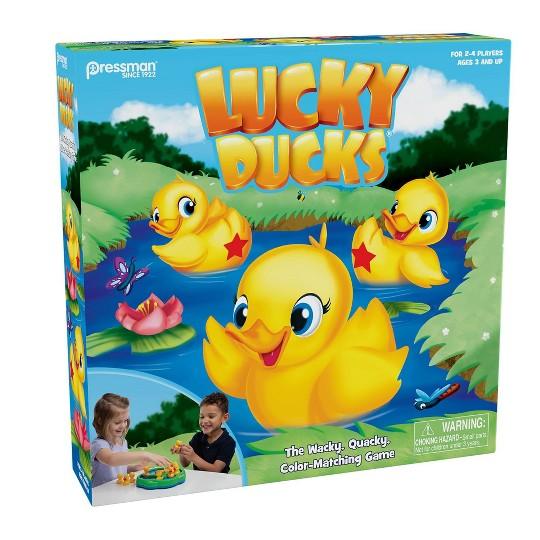 Pressman Lucky Ducks Game, Kids Unisex image number null