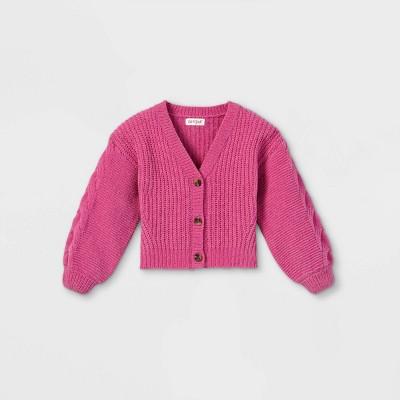 Toddler Girls' V-Neck Cardigan - Cat & Jack™ Pink