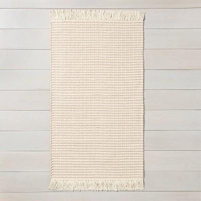 3' x 5' Textured Stripe Area Rug Best Beige / Sour Cream - Hearth & Hand™ with Magnolia