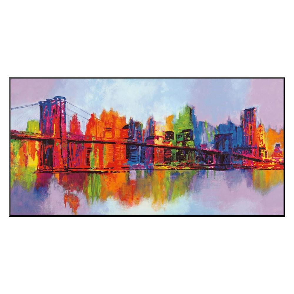 Art.com - Abstract Manhattan Mounted Print