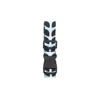 Path Luggage Strap - Blue/White/Black Stripe