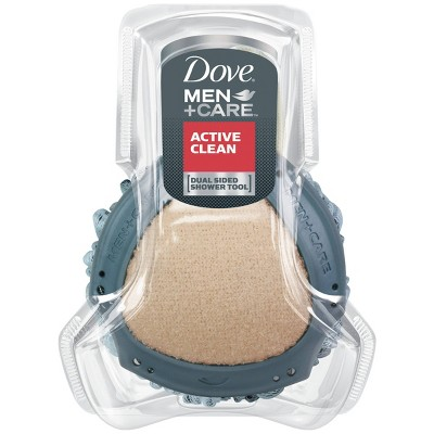 Dove Men+Care Active Clean Dual-Sided Body Wash Shower Tool