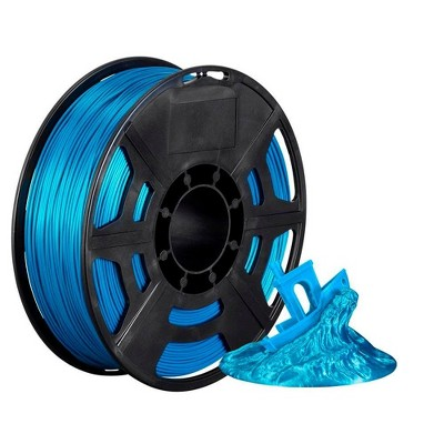 Monoprice Hi-Gloss 3D Printer Filament PLA 1.75mm - 1kg/spool - Blue Green, Works With All PLA Compatible 3D Printers