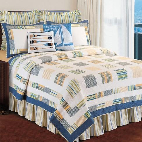 Green Stripes Queen Bed Skirt Drop, Queen White Bed Skirt 16 Drop
