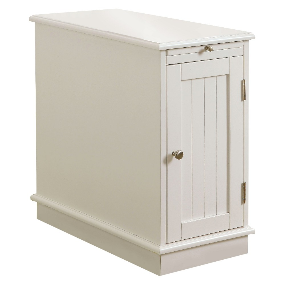 miBasics Provence Accent Table with Storage White, Winter White