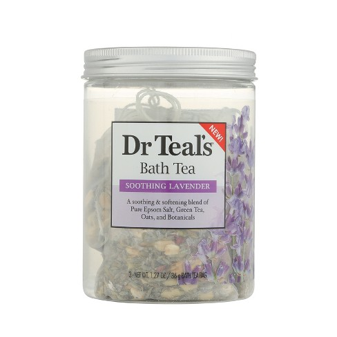 Dr Teal's Soothing Lavender Bath Tea - 3ct - image 1 of 3