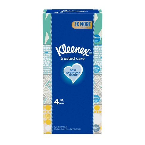 Kleenex Trusted Care Facial Tissue - 4pk/190ct - image 1 of 6