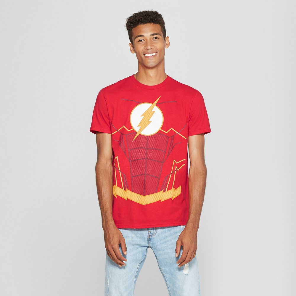 Men's DC Comics Flash Short Sleeve T-Shirt - Red L