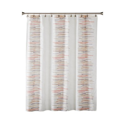 Mori Fabric Shower Curtain Blush - SKL Home