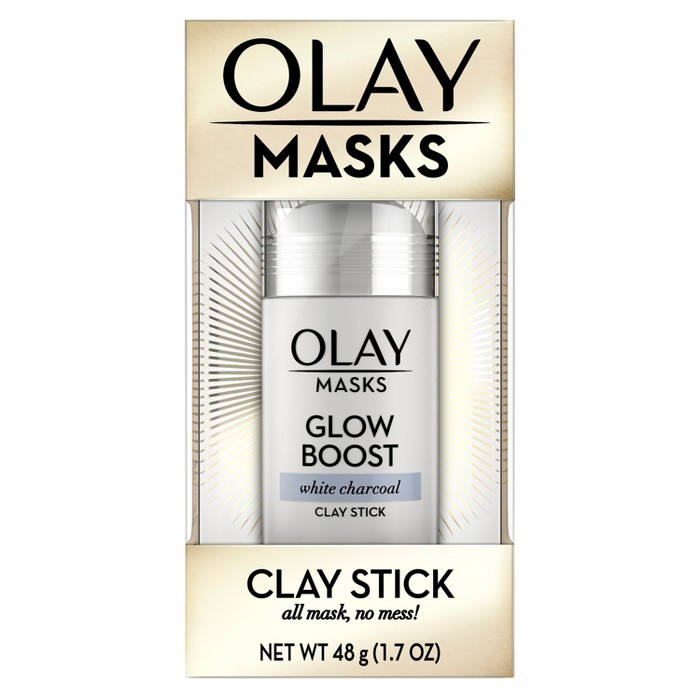 Olay Glow Boost White Charcoal Clay Face Mask Stick Facial Cleanser - 1.7oz - image 1 of 7