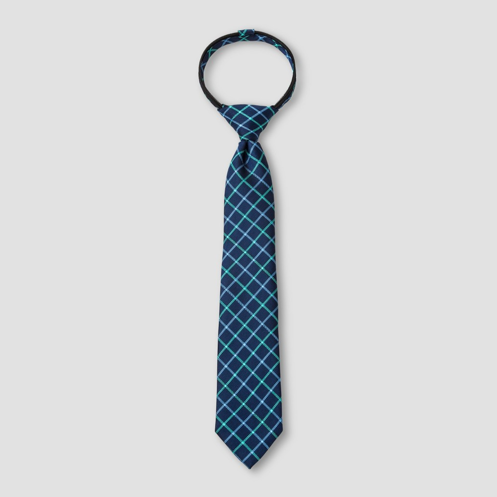 Boys' Grid Necktie - Cat & Jack Navy M/L, Blue