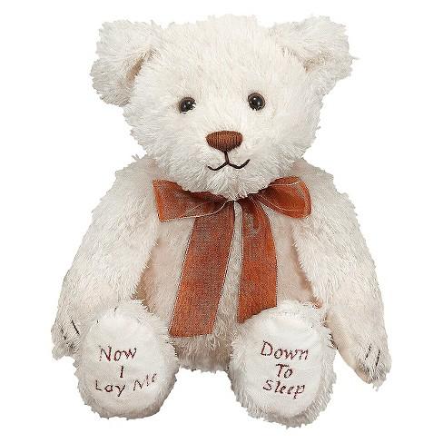Melissa Doug Bedtime Prayer Bear Stuffed Animal With Sound