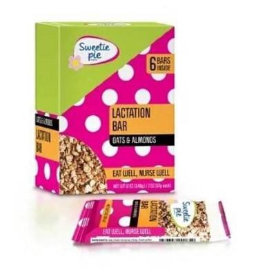 Sweetie Pie Organics Lactation Bars - Oats & Almond - 6pk