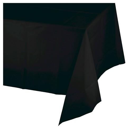 Creative Converting Black Plastic Tablecloth Target