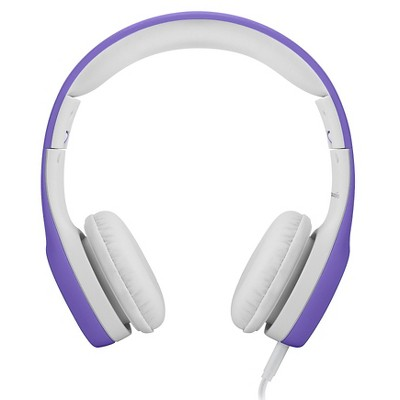 LilGadgets Connect+ Premium Volume Limited Wired Headphones with SharePort for Kids - Purple