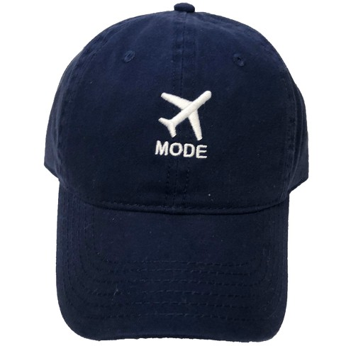 Airplane Mode Men's Baseball Hats - Navy One Size - image 1 of 1