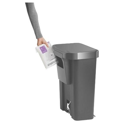 . simplehuman 45 Liter Rectangular Trash Can   Gray