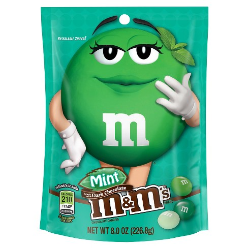 M&M's Mint Dark Chocolate Candies Bag - 8oz - image 1 of 4