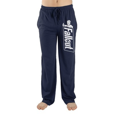Fallout Video Game Logo Mens Navy Lounge Wear Sleep Pants