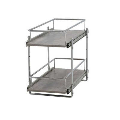 "Household Essentials 11.5"" Dual Slide Extended Cabinet Organizer Silver"