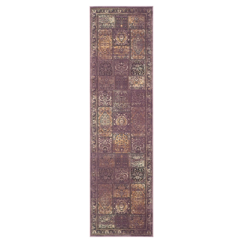 2'X8' Dip Dye Design Runner Purple - Safavieh