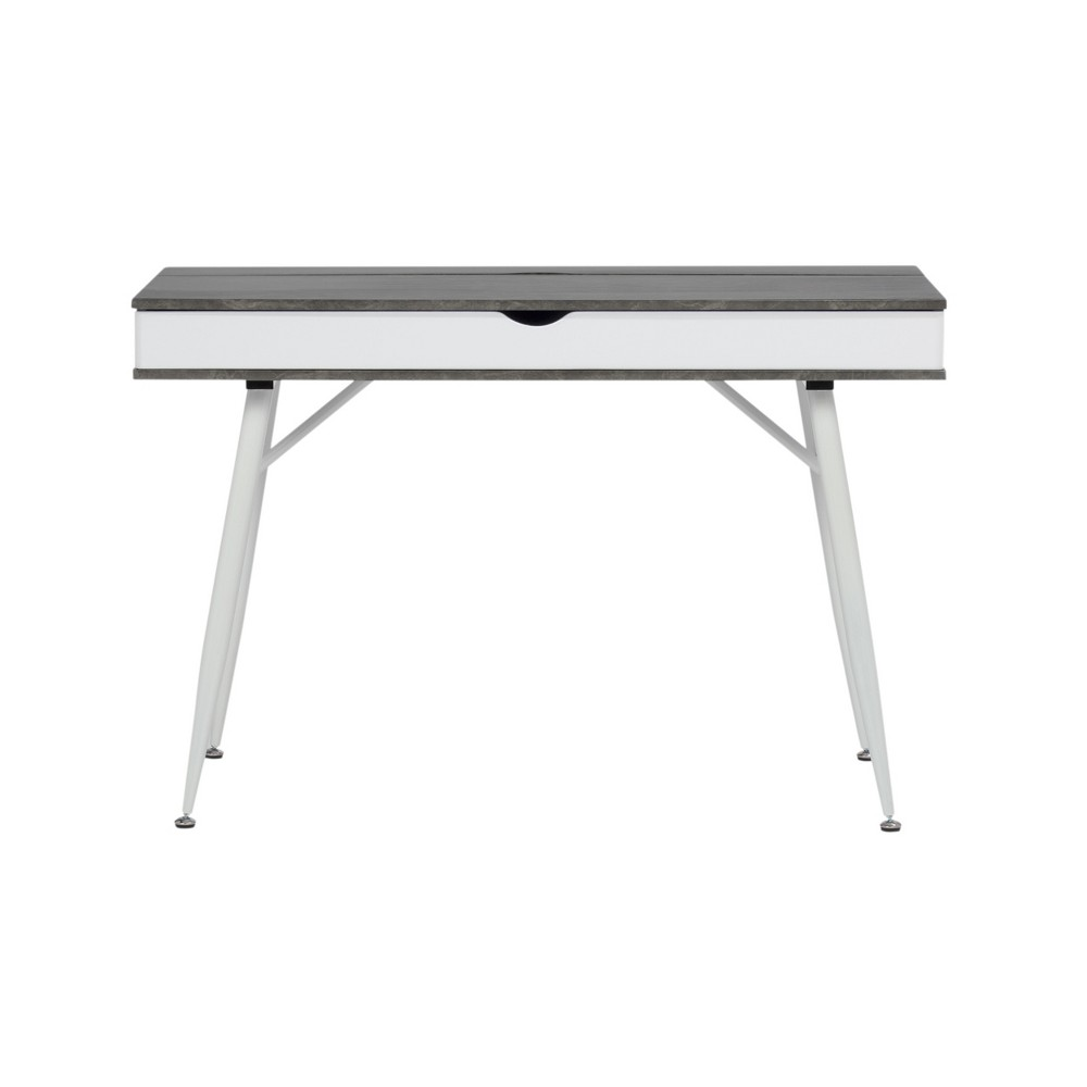 Image of Alcove Writing Desk Dark Gray Wash - Calico Designs, Dark Gray Blue