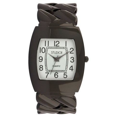 Women's Studio Time® Bangle Watch - Black - image 1 of 1