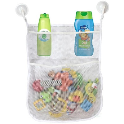 Basicwise 4-Section Bath Toy Organizer With 2 Hook Suction Cups