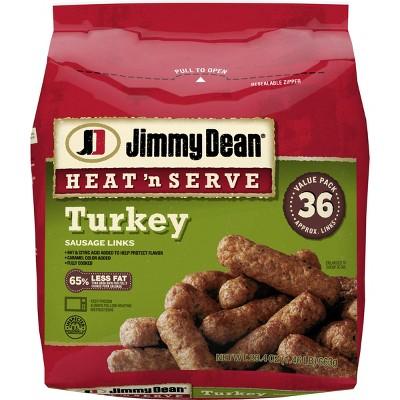 Jimmy Dean Heat & Serve Frozen Turkey Sausage Links - 23.4oz/26ct