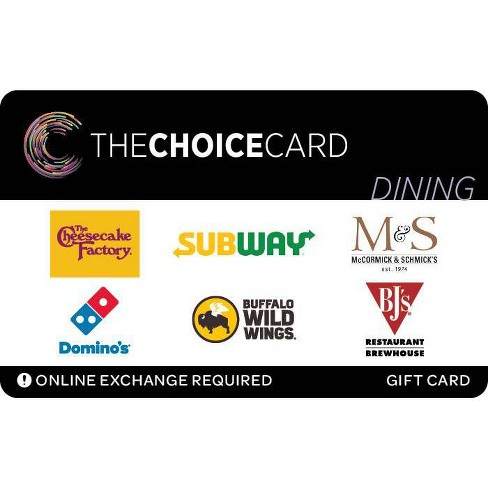 The Choice Card Dining Gift Card (Email Delivery) - image 1 of 1