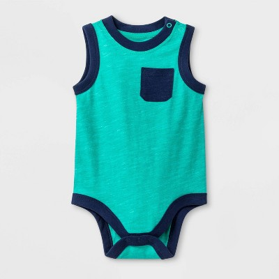 Baby Boys' M&M Tank with Pocket Bodysuit - Cat & Jack™ Green 18 M