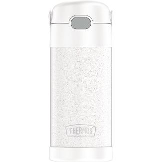 Thermos 12oz FUNtainer Water Bottle - White Glitter