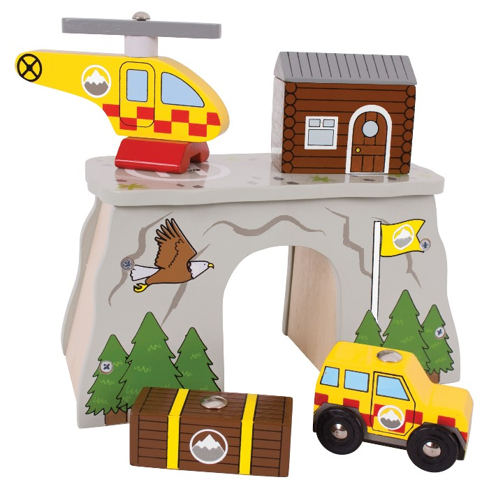 Bigjigs Rail Mountain Rescue Wooden Railway Train Set Accessory - image 1 of 2