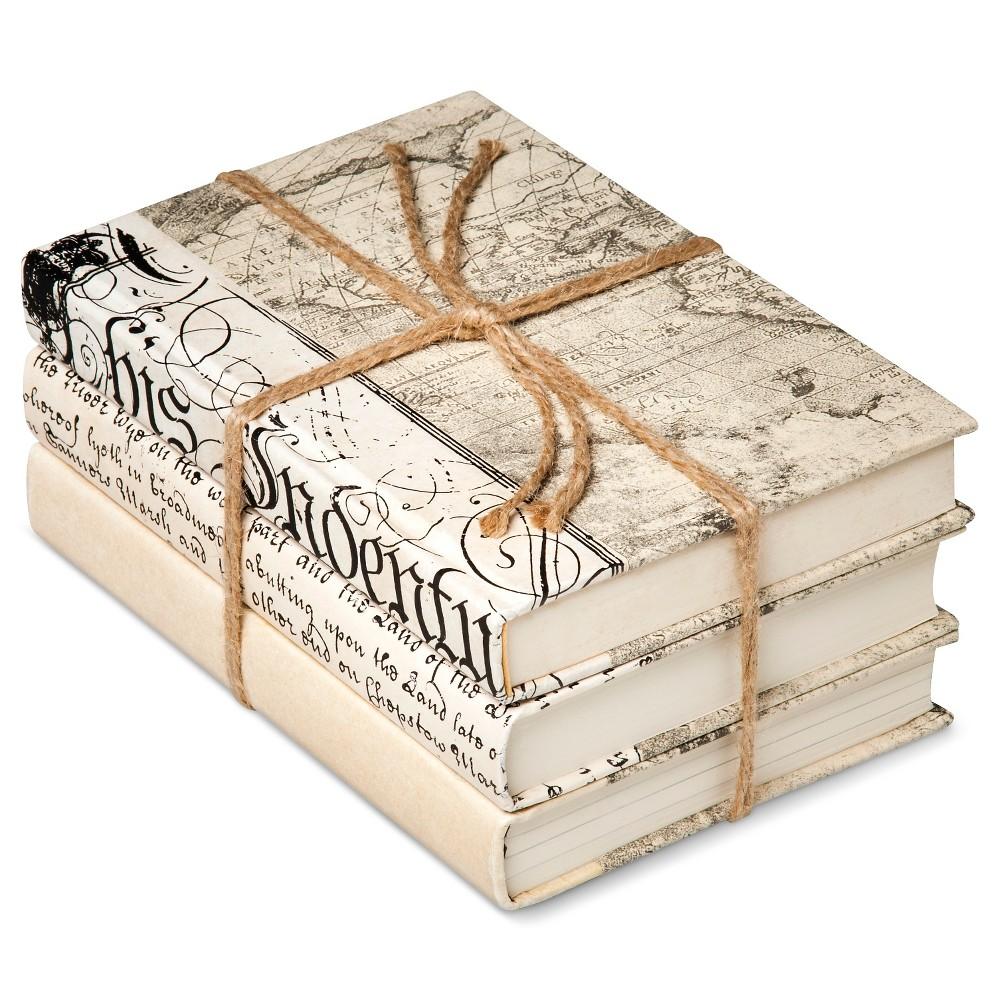 Image of Ivory Mix Decorative Book Set of 3