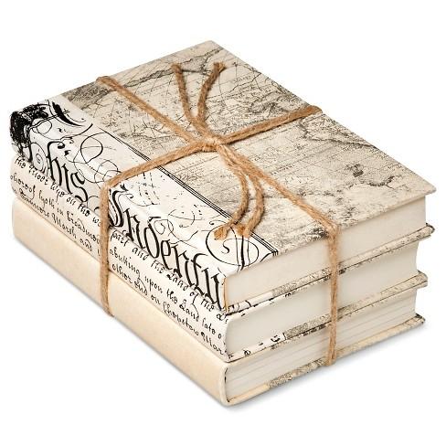 Ivory Mix Decorative Book Set of 3 - image 1 of 1