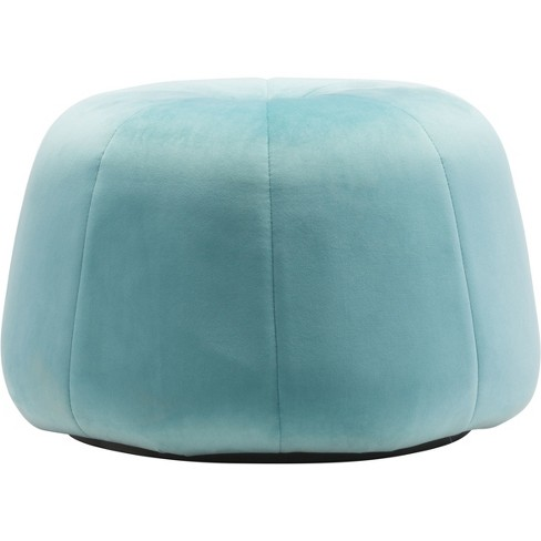 Cool Modern Velvet Tufted Ottoman Light Blue Zm Home Gmtry Best Dining Table And Chair Ideas Images Gmtryco