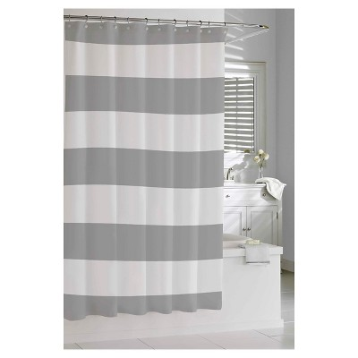 Hampton Stripe Shower Curtain Gray - Kassatex®