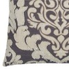 """Ivory Floral Cotton Throw Pillow (20""""x20"""") - Rizzy Home - image 3 of 3"""