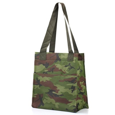"""Zodaca Women Leak Resistant Insulated Lunch Bag Cooler Picnic Travel Food Box Tote Zipper Carry Bags (Size: 11.5""""L x 6.5""""W x 9""""H)"""
