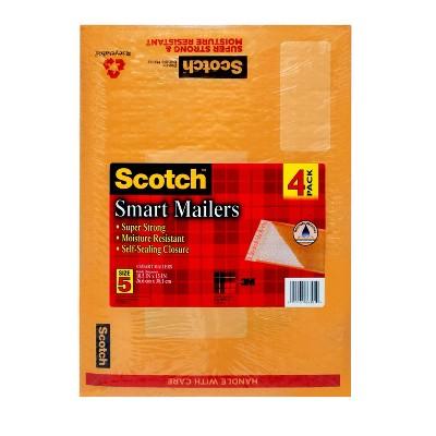 Scotch 4pk Smart Mailers Size 5