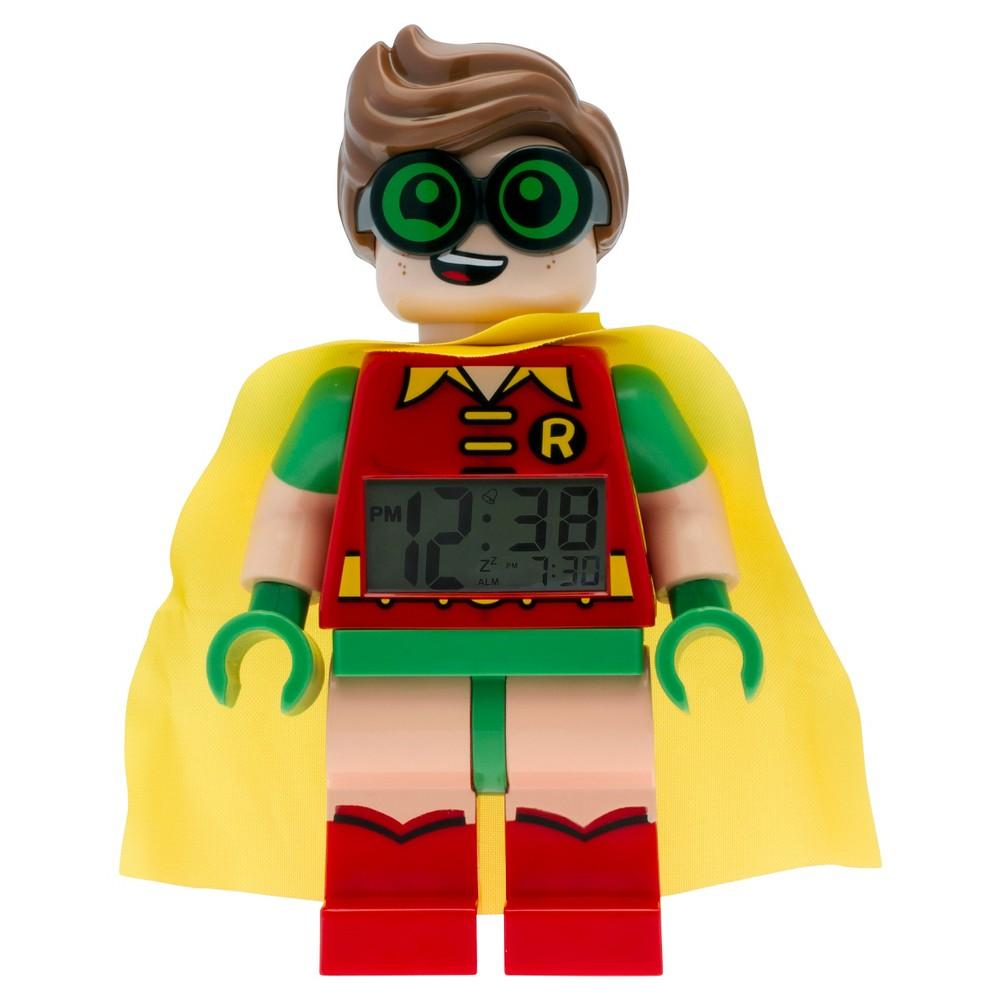 The Lego Batman Movie Robin Light-up Minifigure Alarm Clock - Green